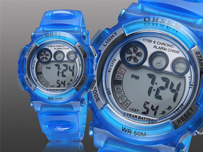 OHSEN Fashion Children Sports Watches Waterproof 5ATM Kids LED Digital Watch Student Outdoor Hand Electronic Clock Montre Femme (18)