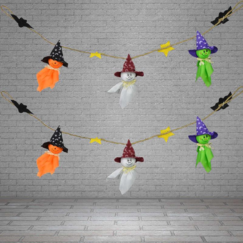 95 cm Halloween Party Spider Cờ Đuôi Nheo Bằng Biểu Ngữ Giấy Vòng Hoa Dễ Thương Ma Treo Hangtag Halloween Trẻ Em Trang Trí Đồ Chơi Đùa Đạo Cụ