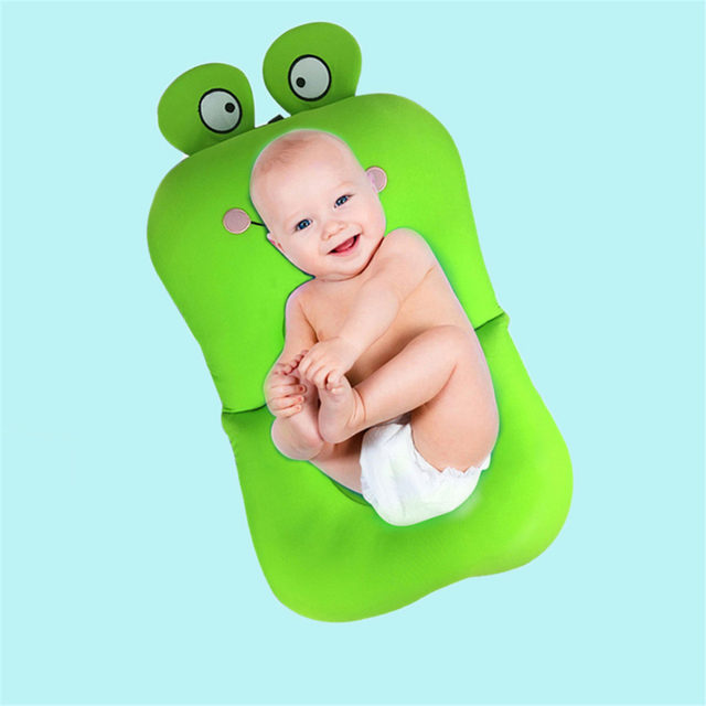 Online Shop Frog Shape Foldable Baby bathtub Bathing Cushion ...