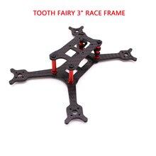 """فلوس 3 بوصة ألياف الكربون الأسنان الجنية 3 """"سباق الإطار 140 مللي متر FPV طقم إطارات مع ذراع 3 مللي متر متوافق 3 بوصة المروحة FPV سباق الطائرة بدون طيار"""