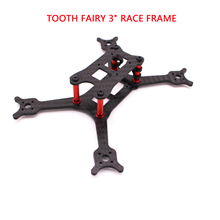 Floss 3 inch Carbon Fiber TOOTH FAIRY RACE Frame 140mm FPV kit with 3mm arm compatible 3inch propeller Race drone