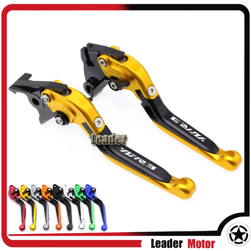 For YAMAHA YZF R3 YZFR3 YZF-R3 2015 2016 2017 2018 2019 Accessories Folding Extendable Brake Clutch Levers Gold LOGO YZF-R3For YAMAHA YZF R3 YZFR3 YZF-R3 2015 2016 2017 2018 2019 Accessories Folding Extendable Brake Clutch Levers Gold LOGO YZF-R3