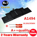 Wholesales  NEW Laptop Battery For Apple retina ME293 ME294   A1494  A1398 (2013 2014 YEAR )
