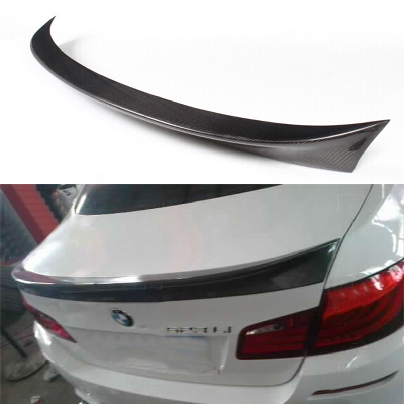 2010~2015 Carbon Fiber Rear Spoiler Wing For BMW F10 5 Series 520i 528i 535i 530i 525i AC style replacement car styling carbon fiber abs rear side door mirror cover for bmw 5 series f10 gt f07 lci 2014 523i 528i 535i