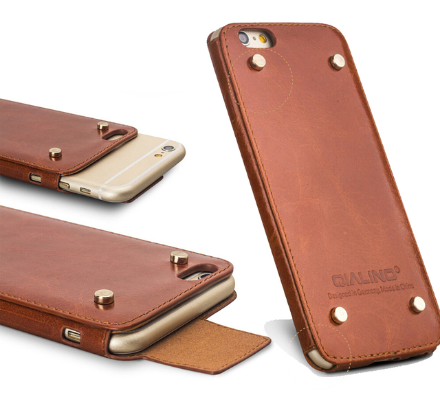 Leather Phone Case >> Qialino Genuine Leather Phone Case For Iphone 6 6s Top Handmade