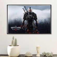 Witcher 3 Game Vintage Canvas Art Print Painting Poster Wall Pictures For Room Home Decoration Decor Picture No Frame