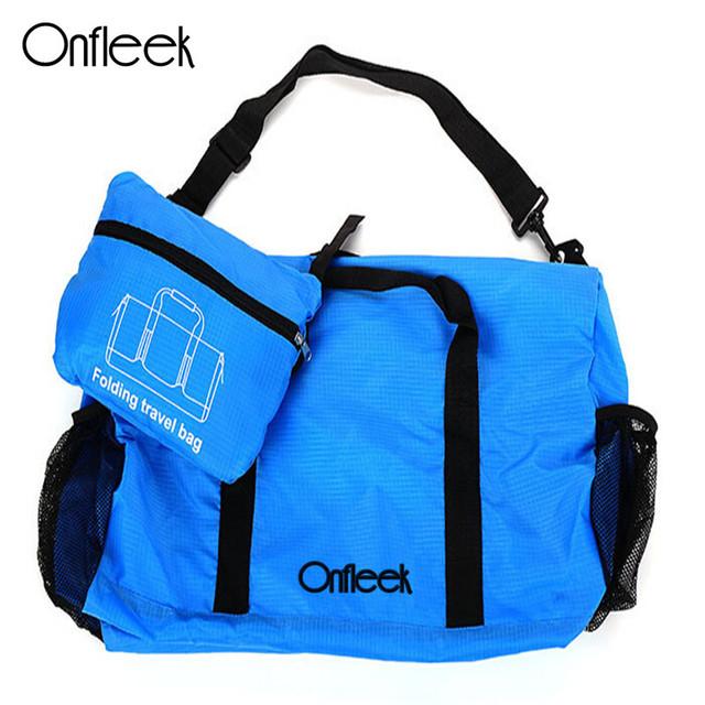Onfleek New Fashion Styles Folding Travel Bag Folding Luggage Originality Bags WaterProof Nylon Simple Women Luggage 70