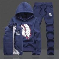 Three Piece Polo Sweat Suit Tracksuit Men Winter Thick Fleece Hoodies Men Tracksuit Set Jacket Vest