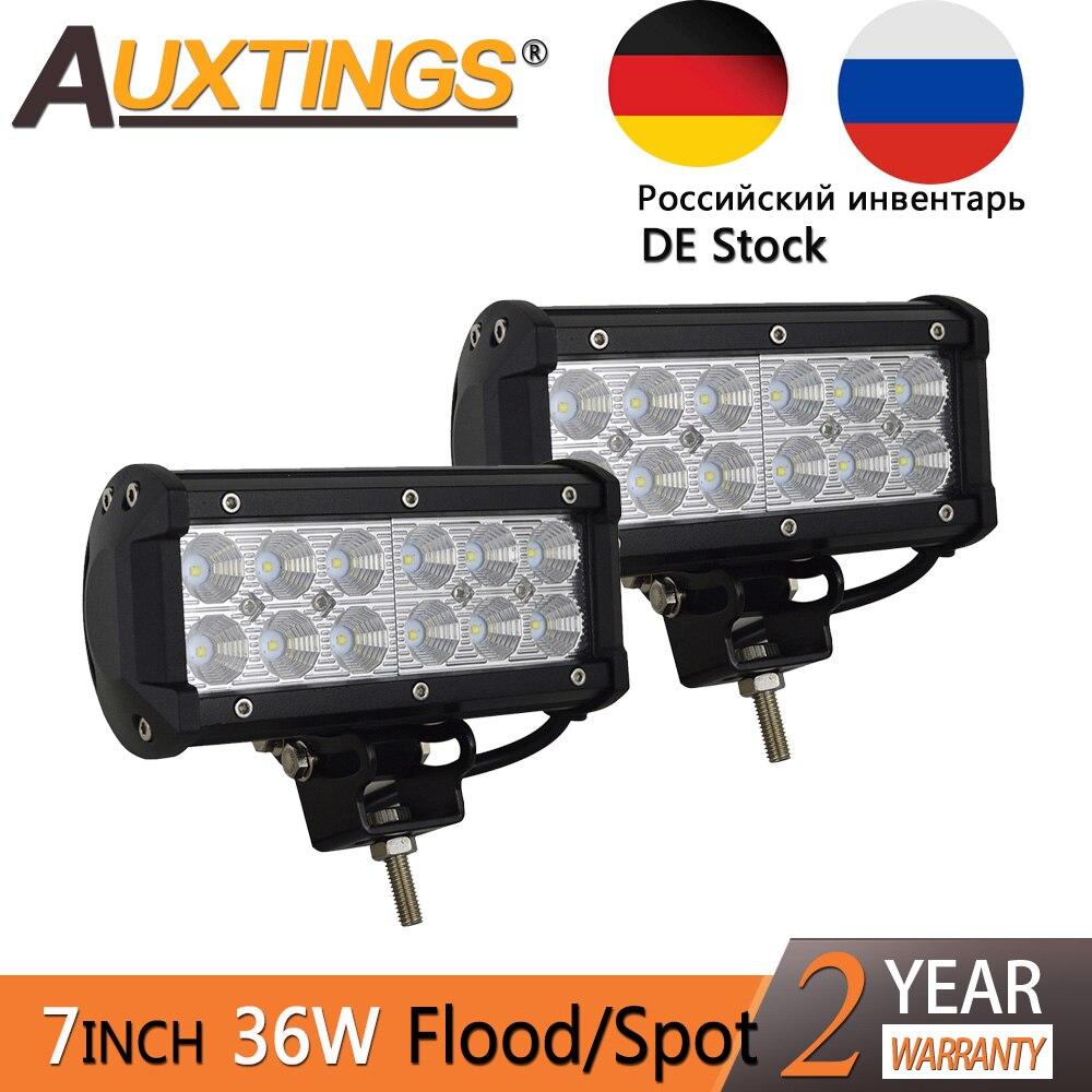 Auxtings 2pcs 36w Flood Spot Waterproof CE Car LED Lights Beam LED Work Light Led Bar