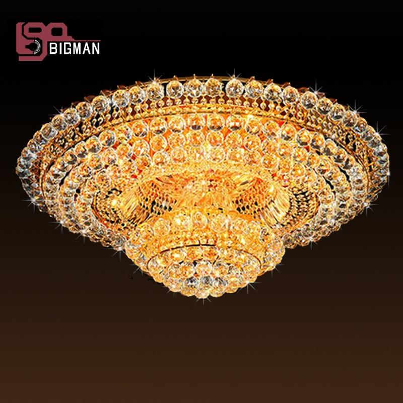 Роскошный дизайн золотой хрустальный канделябр светодиодный свет AC110V 240 V блеск гостиная светодиодный потолочный светильник, большая Хрустальная люстра для гостиниц