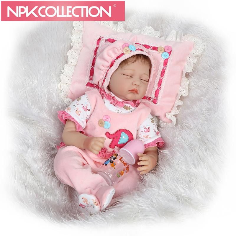 55CM Silicone reborn baby doll toys for girl, lifelike reborn babies play house toy birthday gift girl brinquedos bonecas hot sale silicone reborn babies dolls gift for child kid classic play house toy girl brinquedos baby reborn doll toys