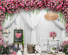 beibehang Stylish personality three-dimensional decorative painting papel de parede wallpaper wedding rose background wall