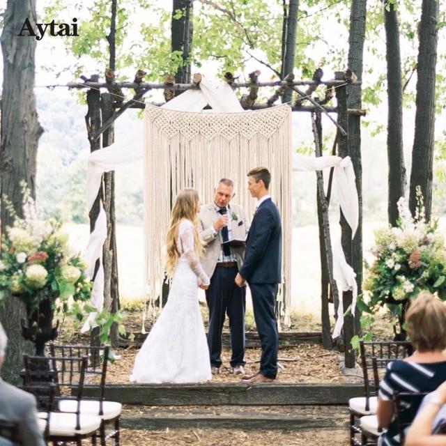 Aytai Macrame Wedding Backdrop Bohotheme Decoration Bohemian Photo Fringe Garland Banner Home