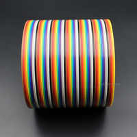 Hellotronics 5 Meters/Lot Premium Standard 1.27mm Pitch 64 Pins Flat Rainbow Ribbon Cable Wires