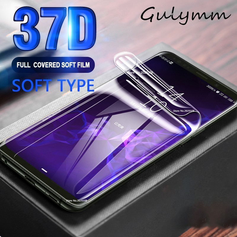 37D Full Curved Soft Hydrogel Film For Samsung Galaxy A 90 80 70 60 50 40 30 20 2019 Screen Protector On The For J 4 5 Not Glass