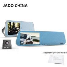 """JADO D600 Cámara Del Coche de Hd 1080 P Coche Dvr Dashcam monitoreo aparcamiento Registrador 4.3 """"Coche Dvr Grabador de Doble Lente de Visión Trasera espejo"""