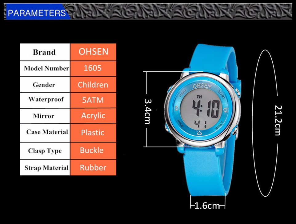 Children's Watches Cooperative Ohsen Boys Kids Children Quartz Sport Watch Alarm Date Chronograph Watches Led Back Light Waterproof Wristwatch Student Clock