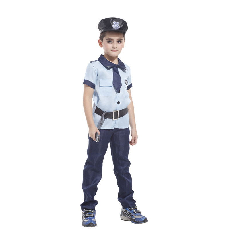 Officer Patrol Children halloween police costumes kids Fantasia Infantil Carnival Party fancy dress boys child Cosplay christmas