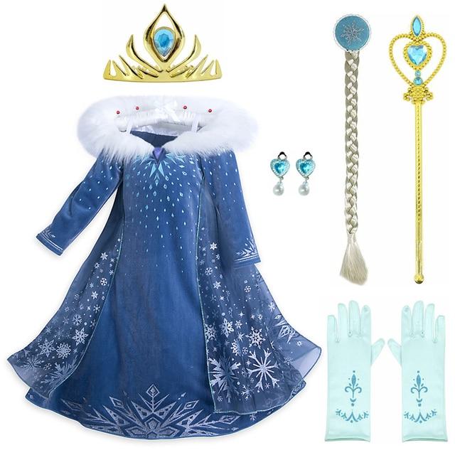 455a4b3c1c339 US $4.56 20% OFF|Princess Party Dresses Snow Queen Frozen Anna Elsa Dress  for Girls Cosplay Vestidos Fantasia Kids Girls Clothing Elsa Elza Set-in ...