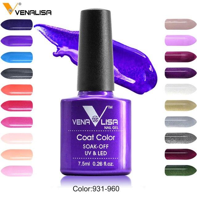 #61508 נייל מפעל אספקת חדש Venalisa נייל אמנות עיצוב 60 צבע משרים כבוי UV ג 'ל צבע לכה לק UV נייל לכה ג 'ל