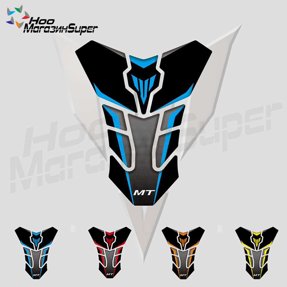 TANK PAD New 3D Reflective Sticker Decal For YAMAHA MT-03 MT-07 FZ-07 MT-09 FZ-09 MT-10 Protection Tank Pad Cas Cap Blue