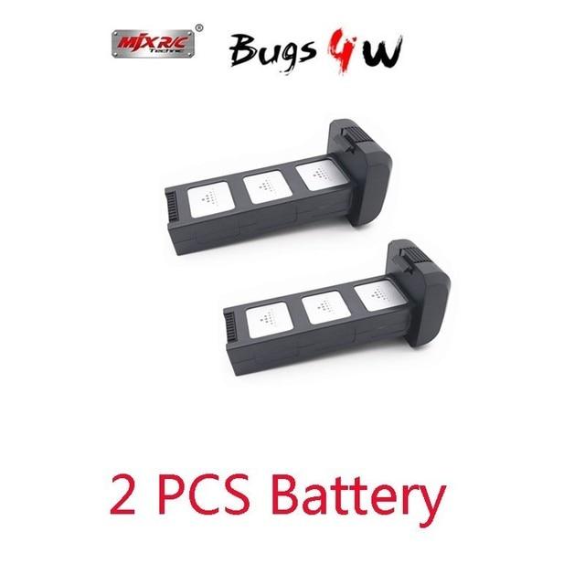 2 pcs MJX Bugs 4w B4w 7.6v 3400mah li-po batterie pour Mjx B4w Rc quadrirotor Drone pièces de rechange Mjx B4w accessoires de batterie