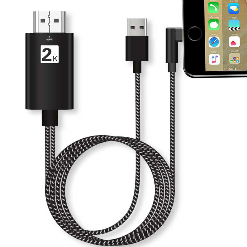 2K 1080P IOS Phone Screen Mirror Connect To TV AV Adapter HDMI Video Cable Cord For IPhone 5S 6 6S 7 8 Plus X XS XR Max For IPad