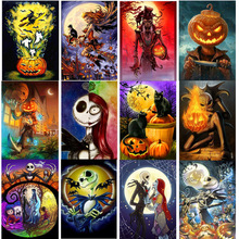 Full 5D DIY Diamond Painting Halloween Gift Taro Pumpkin  Embroidery Cross-stitch Mosaic Complete Layout
