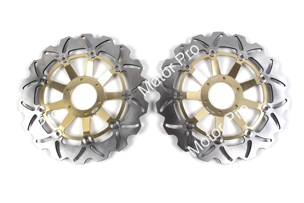 2 PCS CNC Motorcycle Front Brake Disc FOR HONDA GL F6C VALKYRIE 1500 1997 1998 1999 2000 2001 2002 2003 brake disk Rotor stainless steel front brake disc rotor for honda xlv1000 varadero 99 07 xlv 1000 10 11 gl1500 f6c valkyrie 97 03 cbr600 f4 99 00