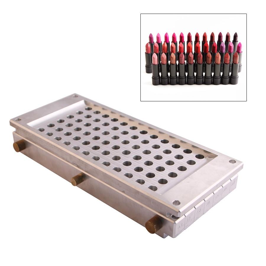 72 Cavities Lipstick Mold Waterdrop Shape 12.1mm 12.7mm, 72 Holes Lipstick Fill Mould, Multi-holes Cavities Lipstick Fill Mold