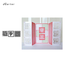JC 2019 New Arrivals Beautiful Flowers Metal Cutting Dies Stencils Scrapbooking DIY Embossing Folder Paper Handmade Album Crafts