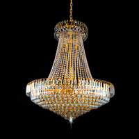 Free Shipping LED Modern Crystal Royal Empire Golden LED Modern Crystal Pendant Lights French Indoor Lighting