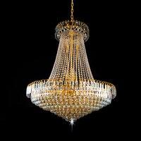 Free Shipping LED Modern Crystal Royal Empire Golden LED Modern Crystal Pendant Lights French Indoor Lighting