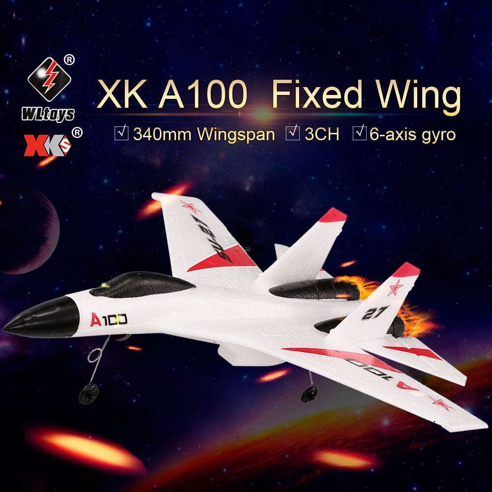 Original XK A100 RC Plane 2 4G 340mm 3CH RC Airplane Fixed Wing Planes RC Aircraft