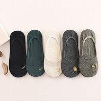 Носки женские лодочные носки A289 лето хлопок мелкая рот Силиконовые slip шлифе Носки Невидимый