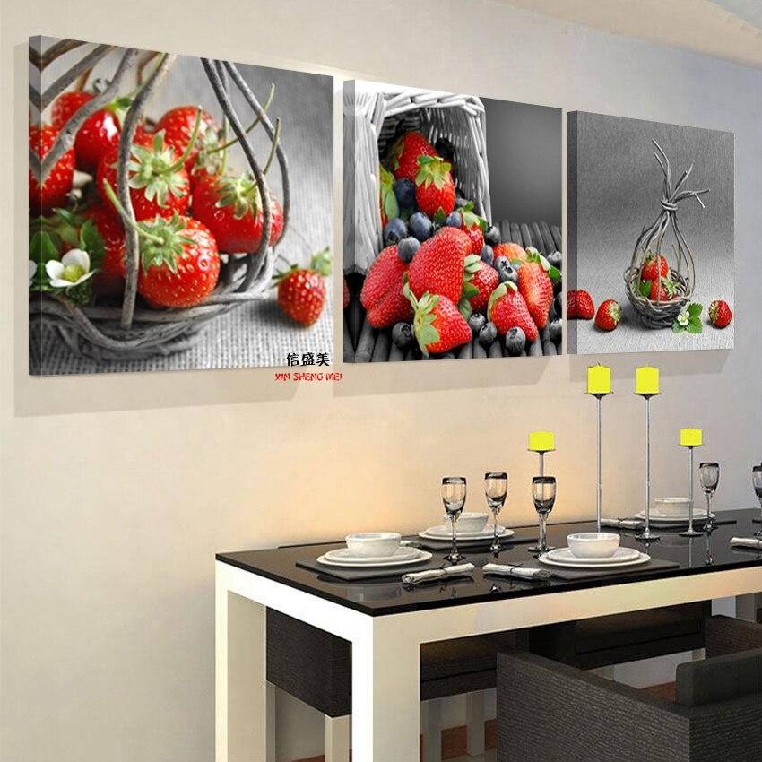 Moderne Leinwand Öl Malerei Wand Kunst Küche Obst Bilder Für ...
