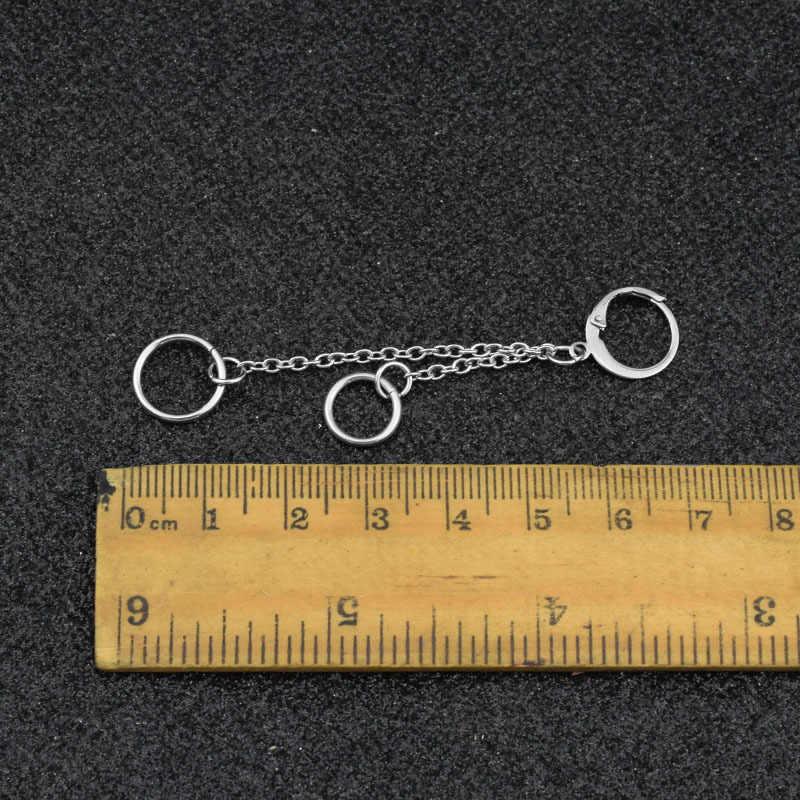 KPOP DNA Korean Punk Tassel Stud Earrings Female Earrings Male Stainless Steel Earring For Women Man Hip Hop Jewelry