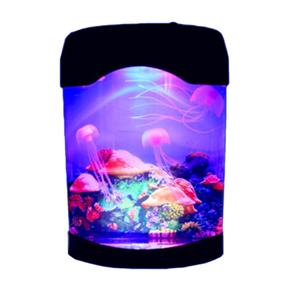 Beautiful Colorful Jellyfish Tank Marine World Swimming Mood Light LED Colorful Aquarium Night Lights Childrens LampBeautiful Colorful Jellyfish Tank Marine World Swimming Mood Light LED Colorful Aquarium Night Lights Childrens Lamp