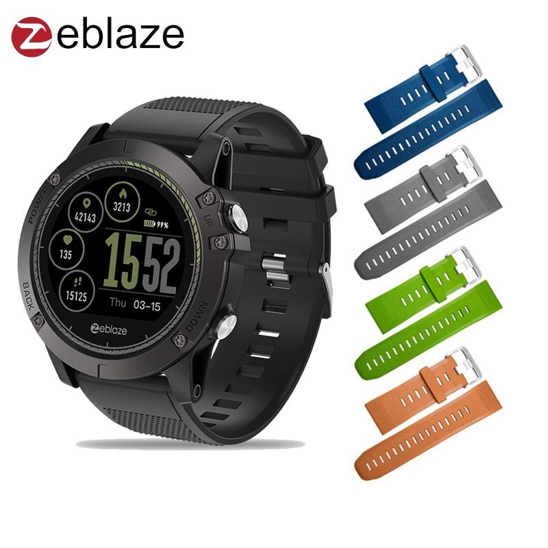 In stock Upgraded Zeblaze VIBE 3 HR 3D IPS Color Display Smartwatch IP67 Waterproof Heart Rate Monitor Sport Smart Watch g6 tactical smartwatch