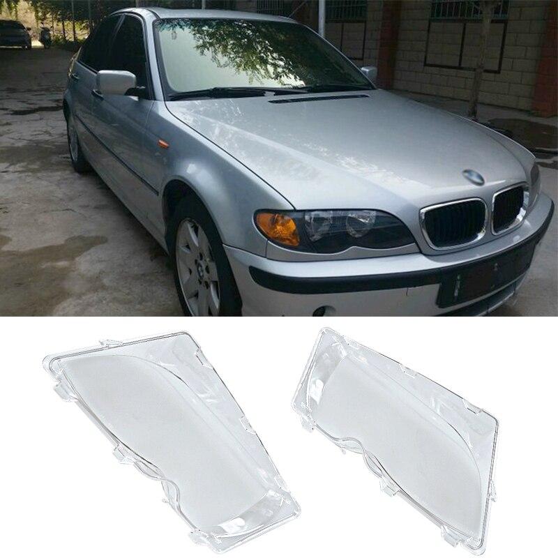 Liplasting Pair Left Right Front Headlight Lens font b Lamp b font Cover for BMW E46
