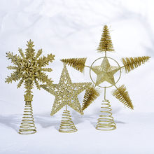 ISHOWTIENDA Gold Star Merry Christmas Tree Bedroom Desk Decoration Toy Doll Gift Children home decor(China)