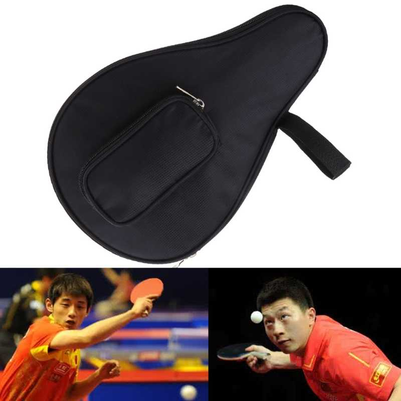 Waterproof Table Tennis Racket cPaddle Bat Bag Pouch with Ball Case
