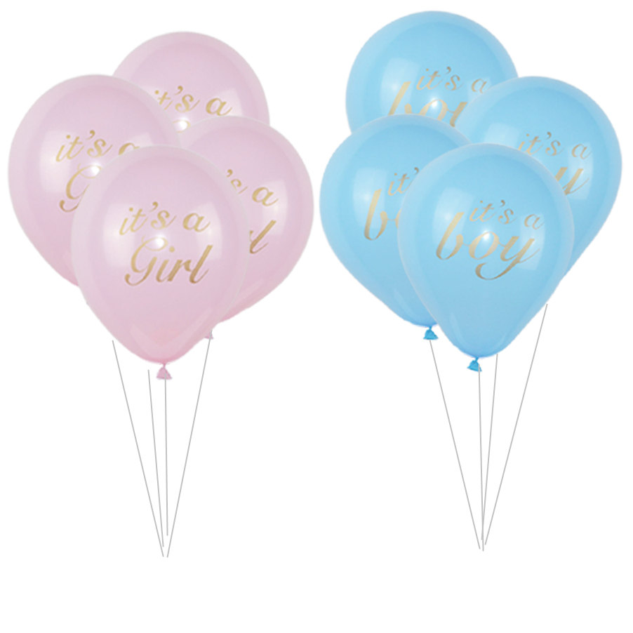 It Is A Boy and It Is A Girl Baby Boy Latex Balloons Pure Color for Gender Reveal Birthday Baby Shower Party Decoration