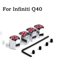 4Pcs/Lot Practical Car Tyre Air Valve Caps, Bicycle Tire Valve Cap, Car Wheel Styling UK Flag For Infiniti Q40