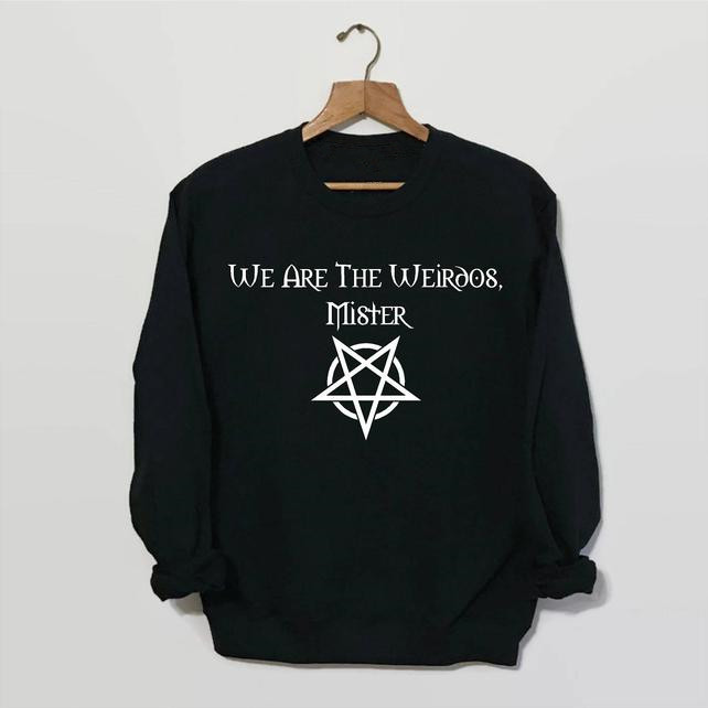 Sugarbaby We Are The Weirdos Mister Sweatshirt The Craft Movie Fashion Casual Tops Witchcraft Witch Jumper 90s Grunge Jumper