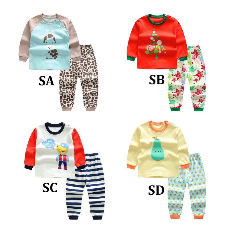 Special Sale 2pcs/  set   Long Sleeve Pyjamas Baby boys Cartoon Rabbit Printed Clothing suits