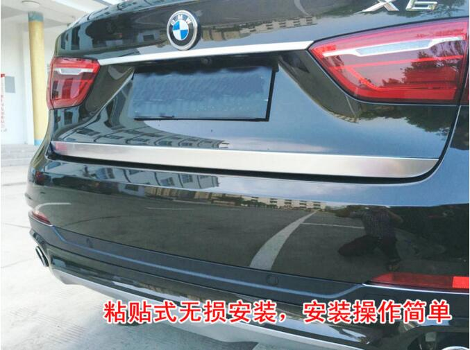 JIYONG 1PCS Car Tail Door Trunk molding Lid Cover Trims FOR BMW X6 F16 2015 2016 2017 2018 Free shipping