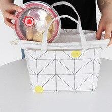 Patch Cotton Linen Waterproof Lunch Box Bag Bundle Handbag banjini bathroom bagping bagping court bag patch card cotton