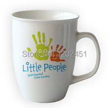 11oz drum shaped mug with edge ceramic coffee mugs ,Custom bone china