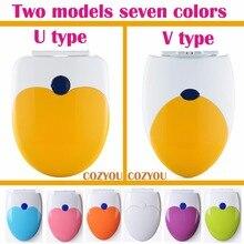 Double layer Toilet seat children adults Dual-use toilet lid 7 colors U & O shape universa toilet lid Silent slow closure COZYOU